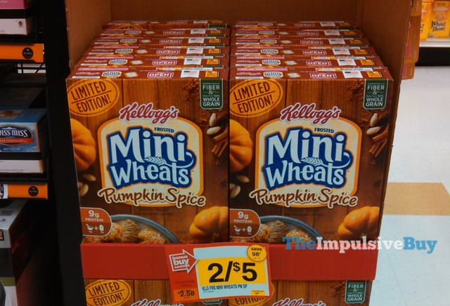 Kellogg's Limited Edition Frosted Mini Wheats Pumpkin Spice