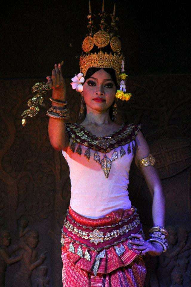 Apsara dance has elaborate headdress