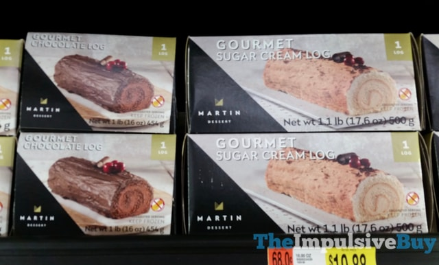 Martin Dessert Gourmet Chocolate Log and Gourment Sugar Cream Log