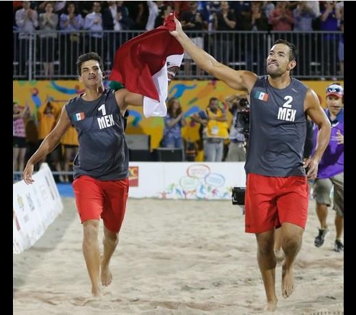 México se lleva el oro en voleibol de playa de JP