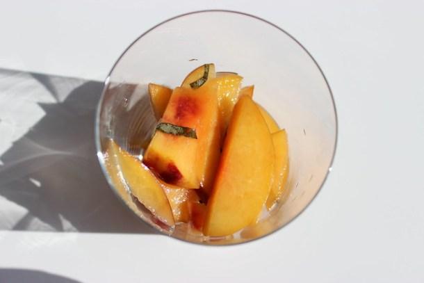 Lillet Peach Dessert