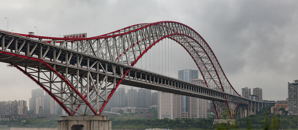 Chaotianmen Bridge Chongqing The Chaotianmen Bridge