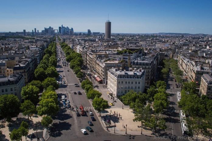 Top of Arc de Triomphe Paris