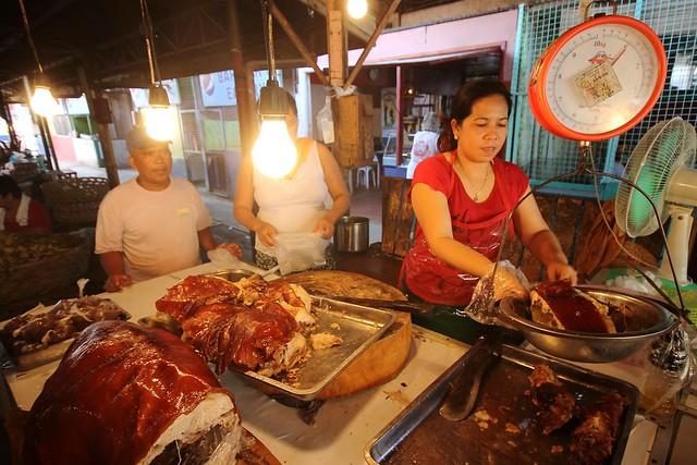 Lechon (Roasted Pig) at Carcar Public Market