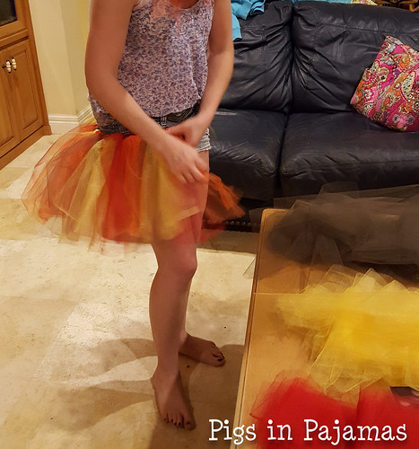 Attaching strips for Turkey Trot Tutus