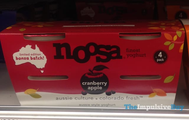 Noosa Limited Edition Bonza Batch Cranberry Apple Aussie Style Yoghurt
