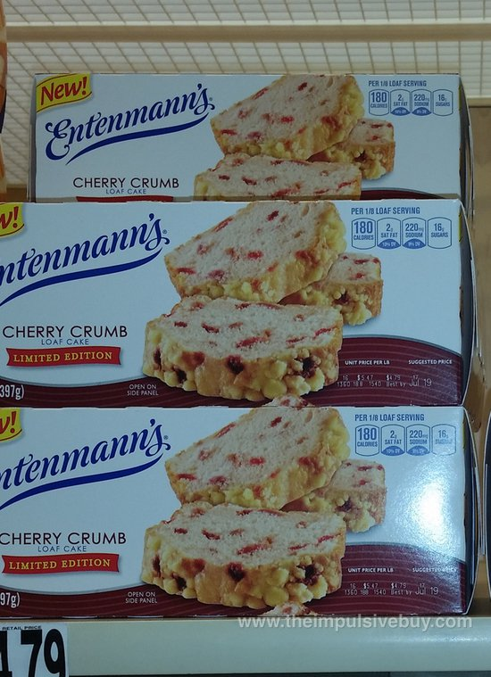 Entenmann's Limited Edition Cherry Crumb Loaf Cake