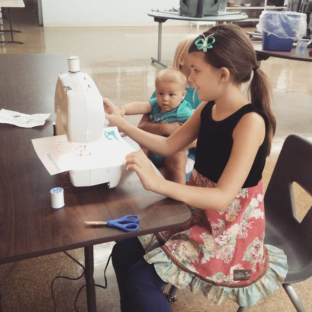 Sewing class with our #homeschool group! :-) #homeschooling