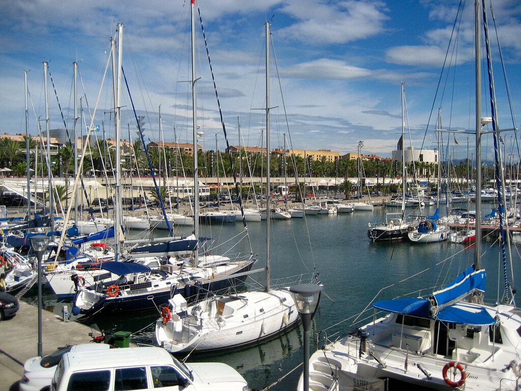 At the marina, best place to stay in barcelona