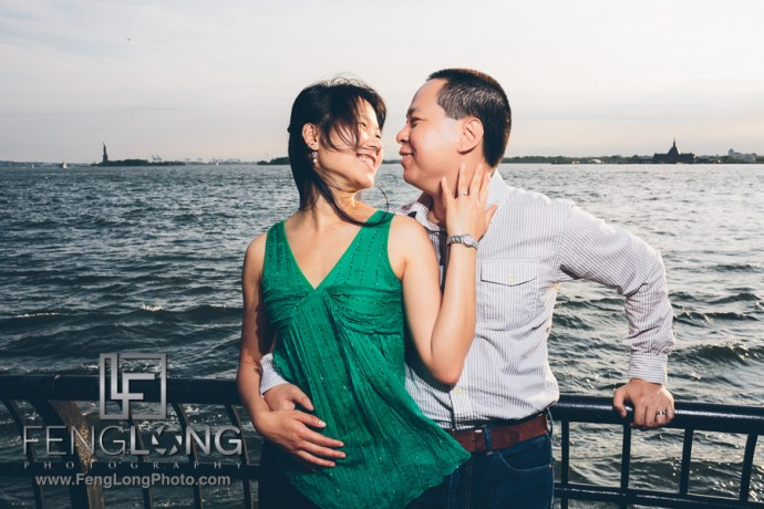 Jin & Andy Engagement | Battery Park & Brooklyn Bride | New York City Chinese Wedding Photographer