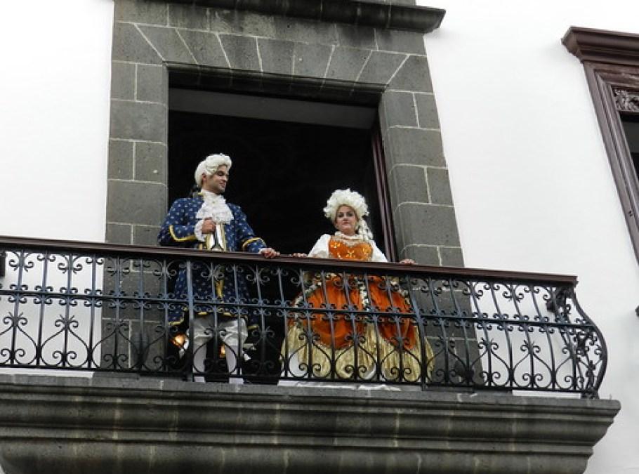 Escenografia en la calle del baile del Minué Fiestas Lustrales Santa Cruz de la Palma 2015 01