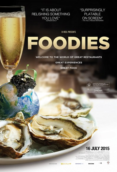 Foodies is showing exclusively Golden Village theatres.