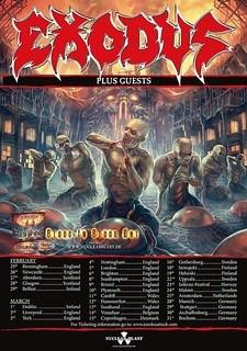 Exodus 2016 European tour poster