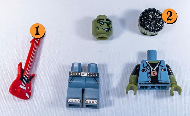 LEGO-Minifigures Série 14 x 1 Cheveux Pièce pour l/'araignée Lady from series 14