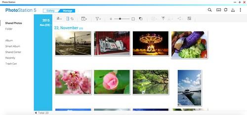 โปรแกรม Photo Station ใช้บริหารจัดการรูปภาพ