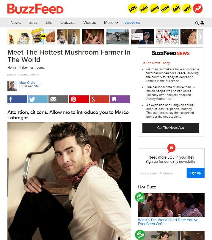 Hot mushroom farmer