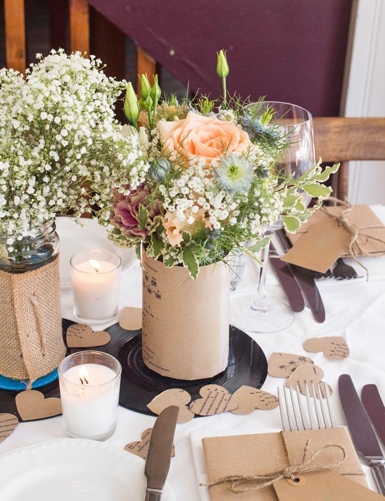 8. Flower table setting