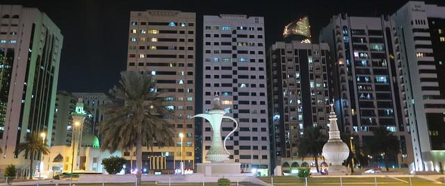 ittihad square at night abu dhabi