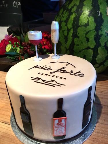 お祝いのケーキが秀逸でした。@Piu Forte