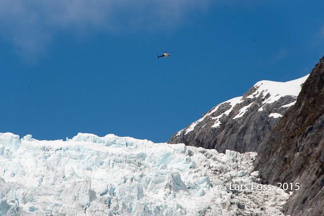 Franz Josef Glacier - heli for size