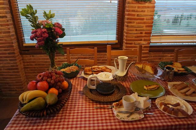 Desayuno en la casa rural Al pie del árbol