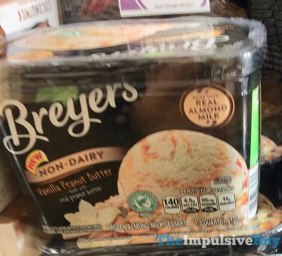 Breyers Non-Dairy Vanilla Peanut Butter Frozen Almond Milk Dessert