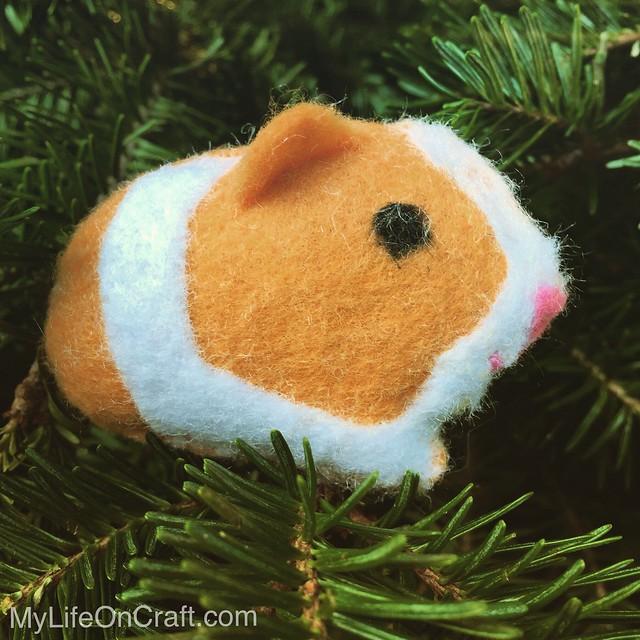 Felt Guinea Pig Ornament