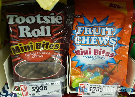 Tootsie Roll Mini Bites and Fruit Chews Mini Bites