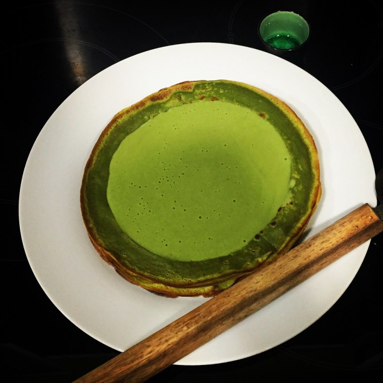 Natillas y creppes de té verde Matcha