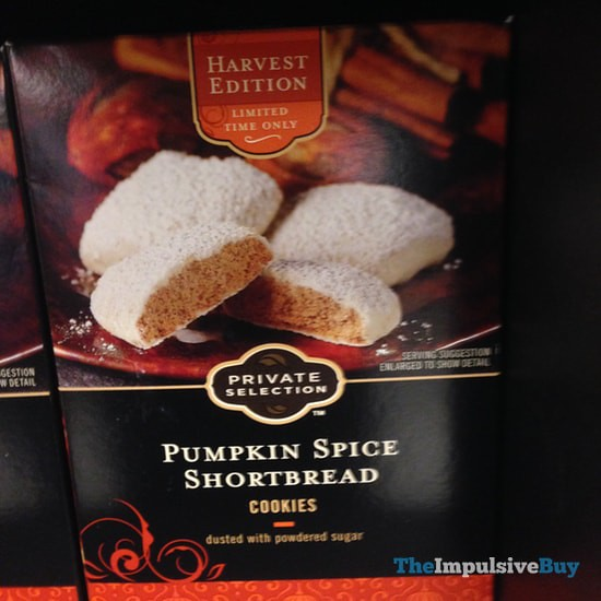 Kroger Private Selection Harvest Edition Pumpkin Spice Shortbread Cookies