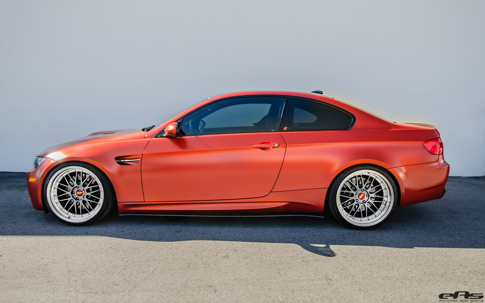 hight resolution of frozen red metallic e92 m3 for the show