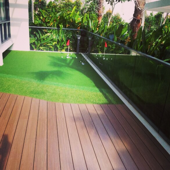 Bartley residences designing the perfect balcony part 1 for Balcony artificial grass