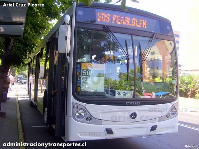 Transantiago - Buses Metropolitana / Metbus - Caio Mondego H / Mercedes Benz (BDXR11)