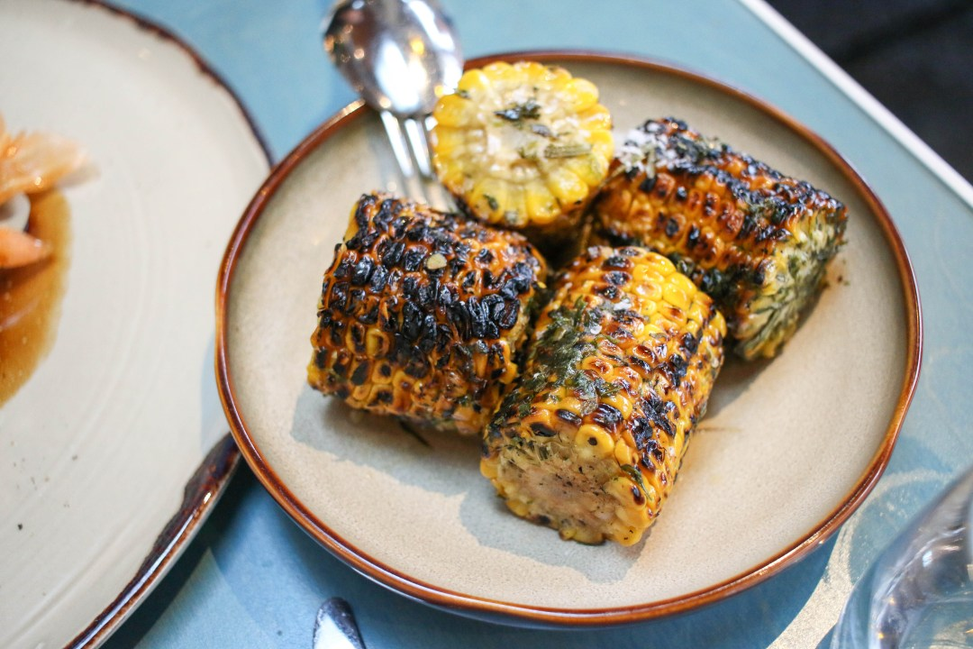 Charred corn, botanical butter