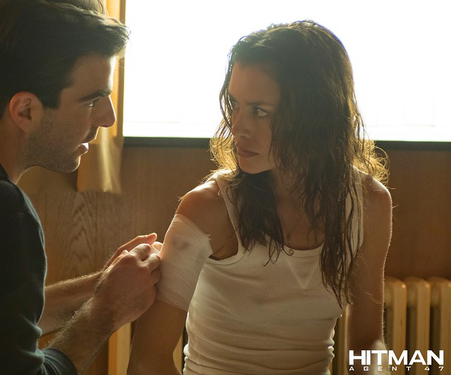 zachary quinto and hannah ware HITMAN AGENT 47