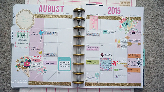 August 2015 in my Happy Planner