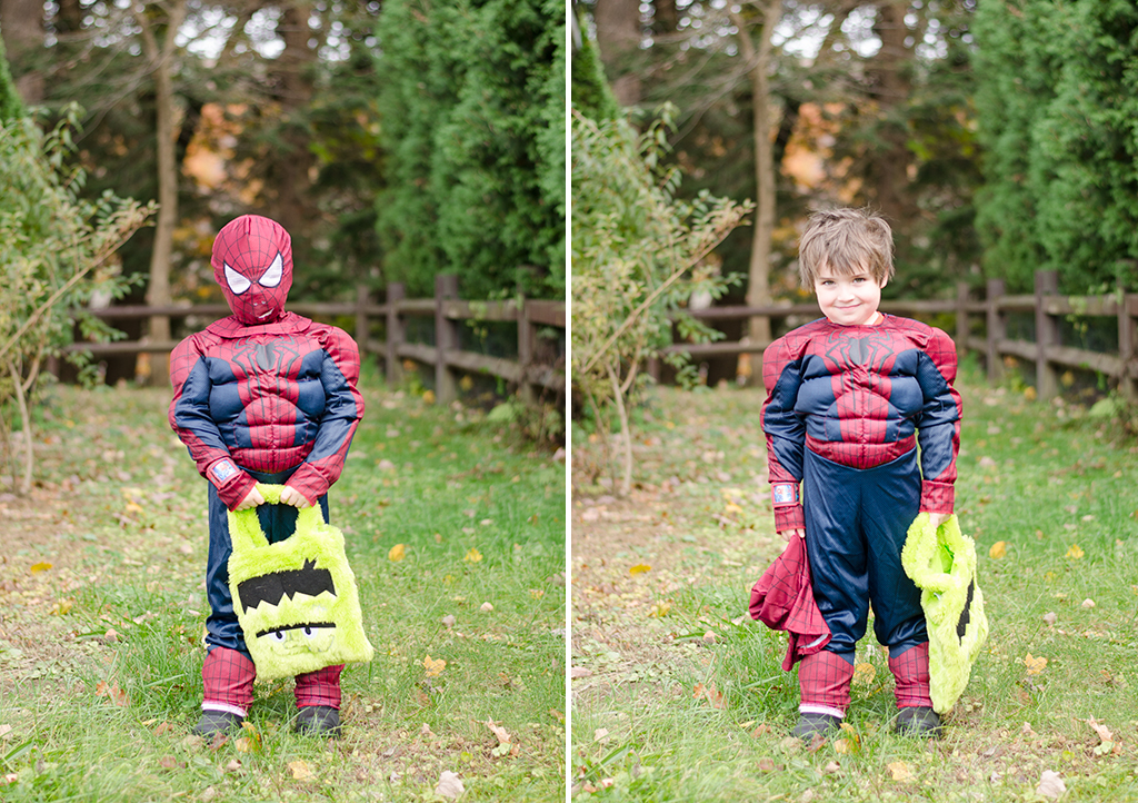 Halloween 2015 - Zane as Spiderman