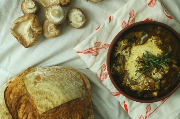 Mushroom Brown Ale Soup