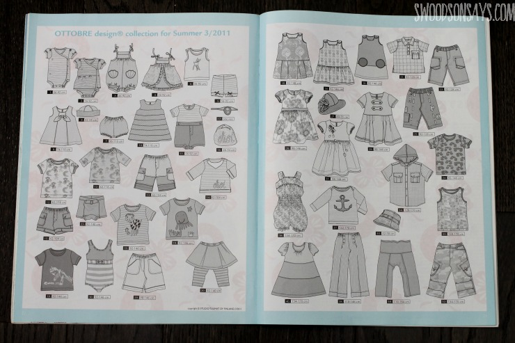 Ottobre sewing magazine pattern pages