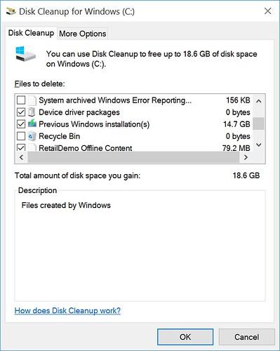 ทำเครื่องหมายถูกตรง Previous Windows Installation(s)