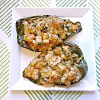 Cajun Shrimp Stuffed Poblanos