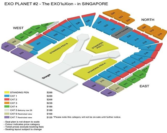 EXOluXion in Singapore Seating Plan