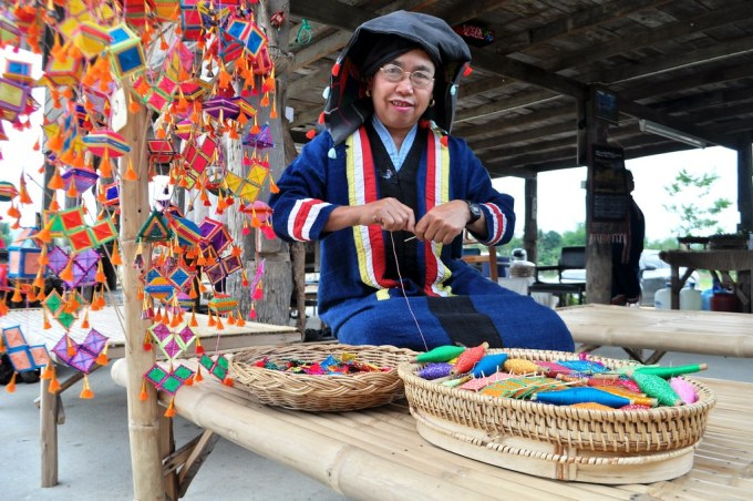 A Woman Makes Amulets at the Tai Dam House Museum - #TBEX Blogger Preview Trip, Loei Region of Thailand, March 23 - 25, 2015