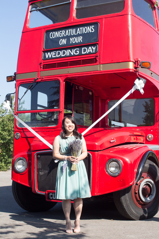 5 Bridesmaid chrissy and dan wedding route master wedding bus