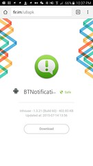 URL ที่ได้จาก QR Code บน U8 U Watch ดาวน์โหลด BTNotification ได้ชัวร์กว่า