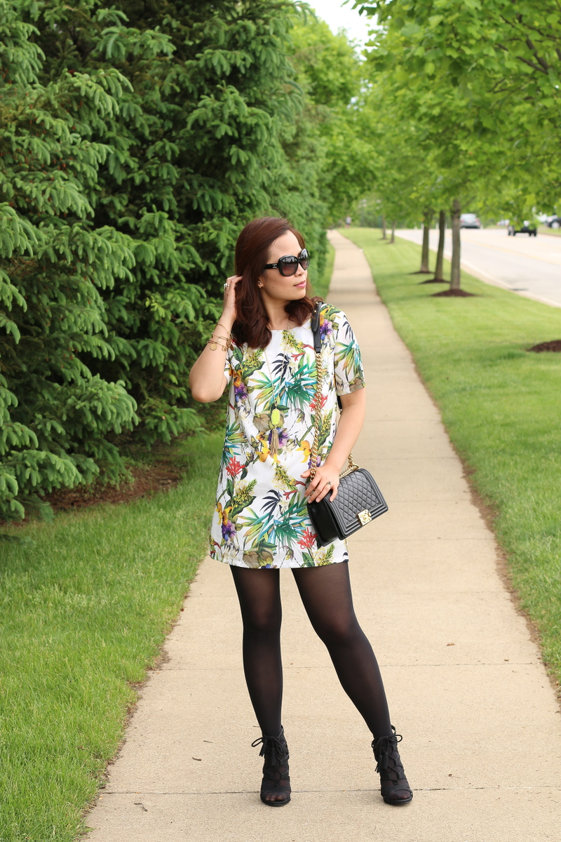 Botanical-print-dress-tights-strappy-sandals-9
