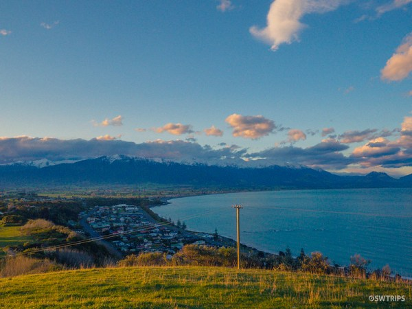 Sunset at Kaikoura Lookout