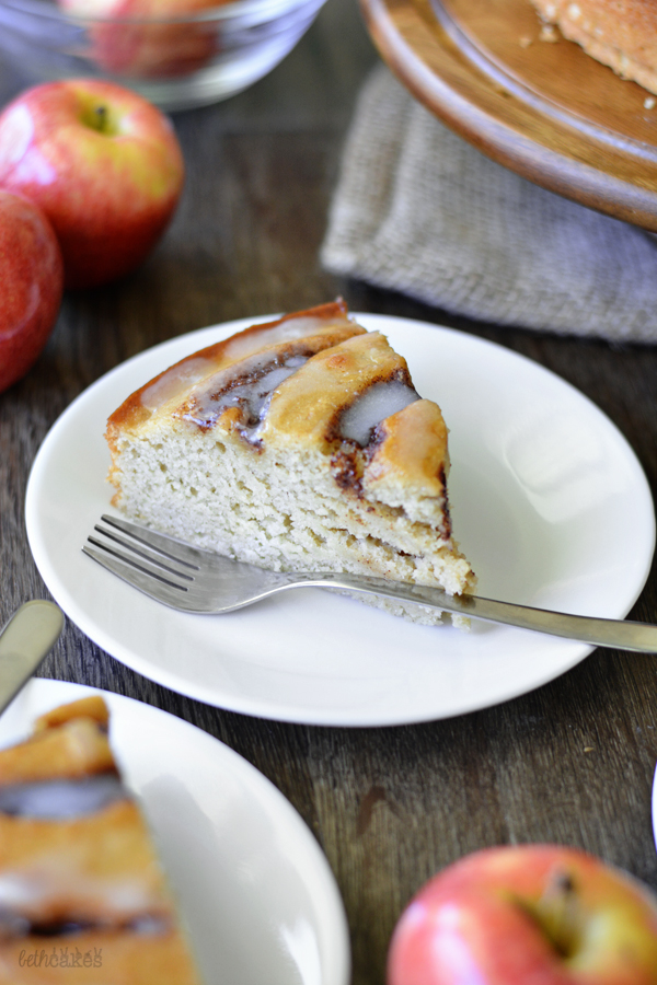 Apple Butter Cinnamon Roll Cake! bethcakes.com
