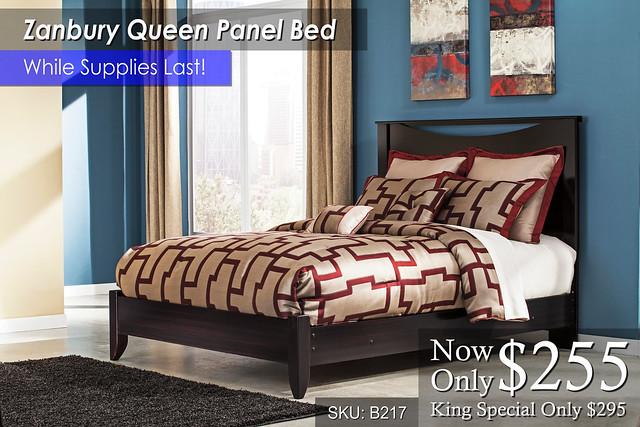 Zanbury Queen Panel Bed