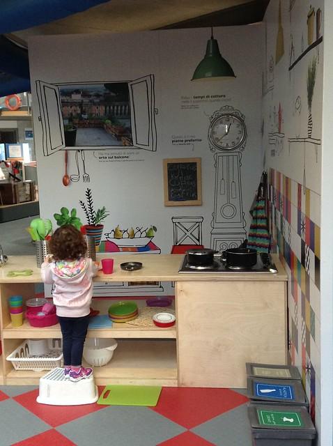 Fab kitchen at explora children museum Rome